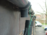 Broken downpipe repairs